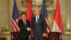Bertemu Mike Pence, JK Bahas Myanmar hingga Afghanistan