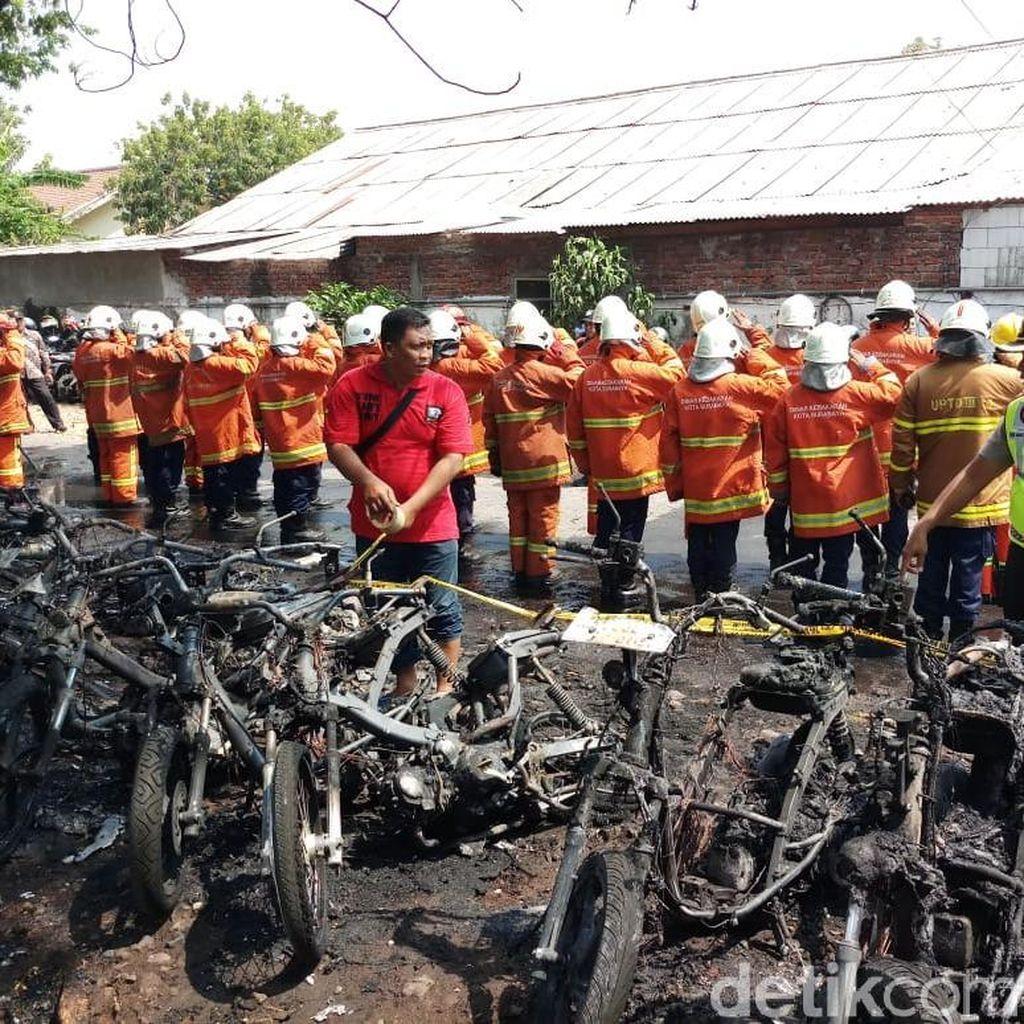 Ini Penampakan 17 Motor Pelajar di Surabaya Hangus Terbakar