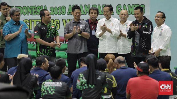Presiden Jokowi meninjau persiapan GBK dan atlet Indonesia jelang Asian Para Games 2018.
