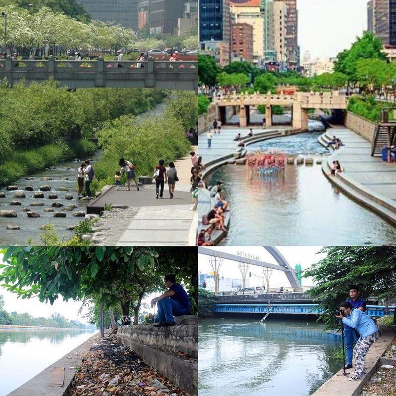 Foto: Dari Instagram resminya, Gubernur Jawa Barat Ridwan Kamil memberi kabar baik untuk warga Bekasi. Kalimalang rencananya akan disulap jadi sekeren sungai di Seoul, Korea Selatan (Ridwan Kamil/Instagram)