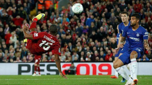 Daniel Sturridge sempat membawa Liverpool unggul.
