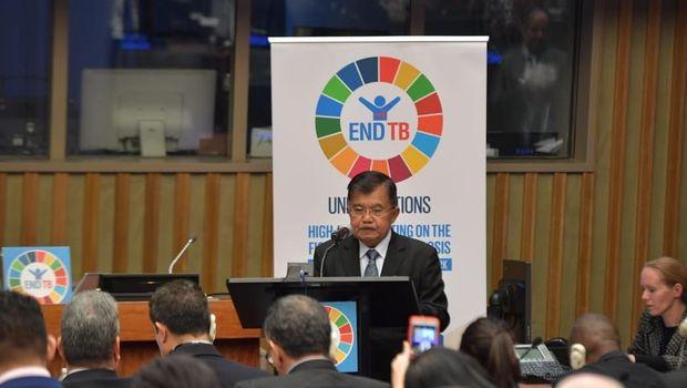 Wapres Jusuf Kalla di forum PBB soal penanganan TBC.