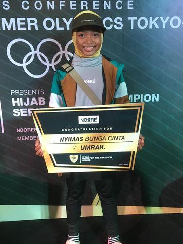 Nyimas Bunga Cinta, skater berhijab berusia 12 tahun peraih medali di Asian Games 2018ali