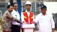 Tekan Sirine Bareng Anies, Jokowi Resmikan Tol Desari Seksi I