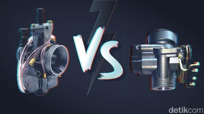 Ilustrasi karburator dan injeksi Foto: Andhika Akbarayansyah