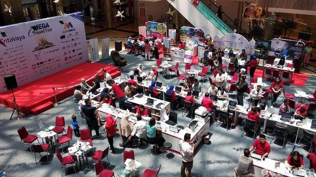 Suasana di Mega Travel Fair Bandung (Dony/detikTravel)