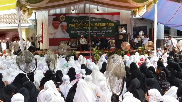 Ke Probolinggo Juga, Ma'ruf Amin Kunjungi Ponpes untuk Cari Dukungan