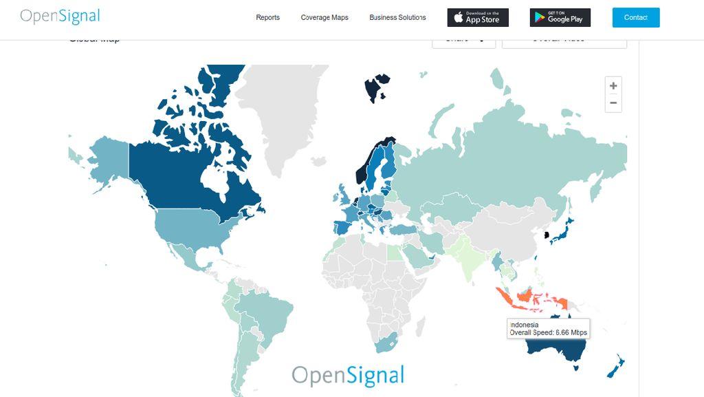 Buruknya Kecepatan Streaming Video Indonesia di Dunia