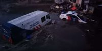 Kantor Ditlantas Polda Sulteng di Pantai Talise/Jembatan Kuning, Palu, terkena tsunami pada Jumat (28/9) lalu