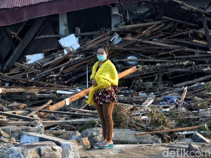 Foto: Reruntuhan akibat gempa Palu. (Pradita Utama/detikcom).
