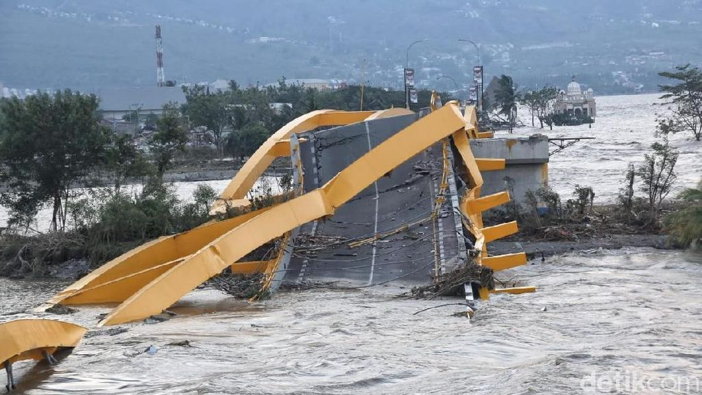 Jembatan Kuning Runtuh, Ada 3 Jembatan Lain Hubungkan Palu Barat dan Timur