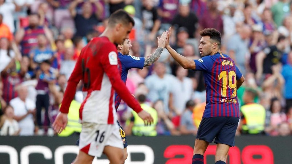 Hasil Liga Spanyol: Munir Selamatkan Barcelona dari Kekalahan Lawan Bilbao