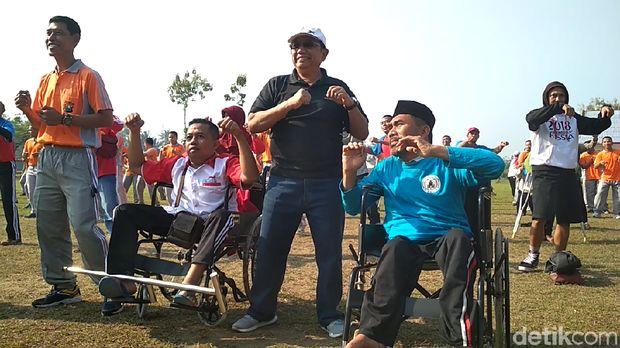 Dukung Asian Para Games, Polisi Ajak Kaum Difabel Olahraga Bareng