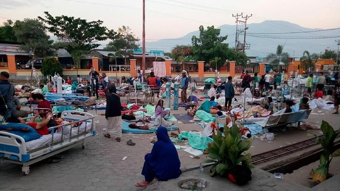 Korban gempa bumi dan tsunami di Palu, Sulawesi Tengah. Foto: Antara Foto