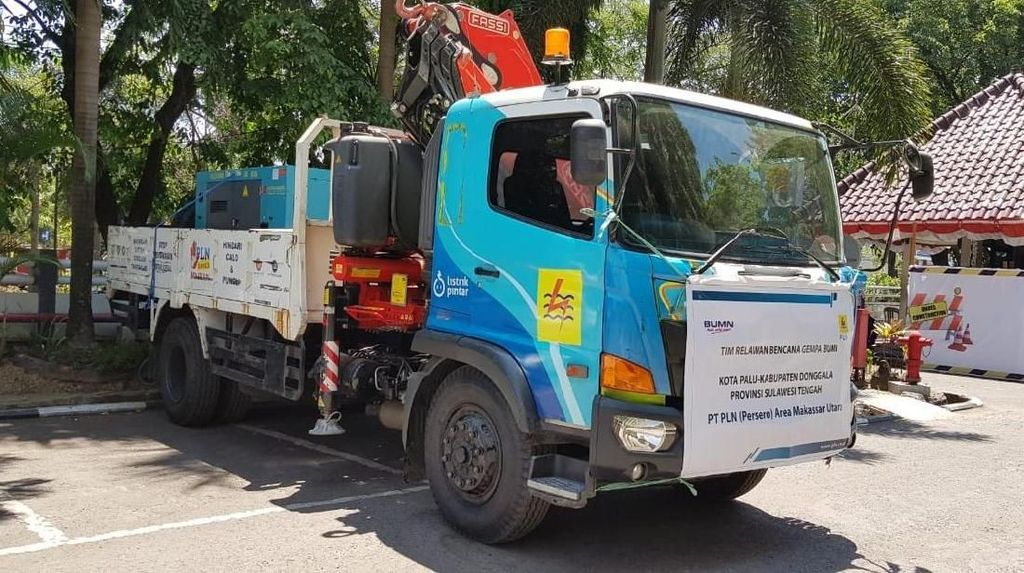 PLN Boyong 216 Petugas Pulihkan Listrik di Palu dan Donggala