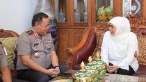 Silaturahmi ke Rumah Khofifah, Kapolda Jatim Ingin Bangun Kamtibmas
