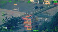 Penampakan menara ATC Bandara Palu yang roboh akibat gempa