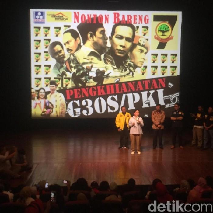 Berkarya gelar nobar film G30S/PKI (Ibnu/detikcom)