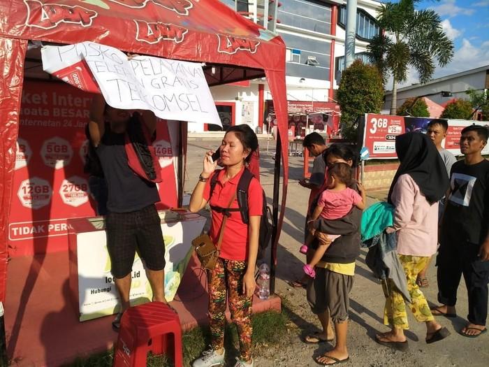 Telekomunikasi berangsur pulih pascagempa Donggala. Foto: Telkomsel