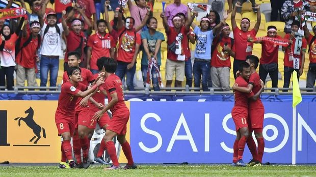 Timnas Indonesia U-16 sempat unggul di babak pertama.