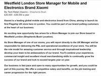 Lowongan Xiaomi Ungkap Rencana Buka Toko di London