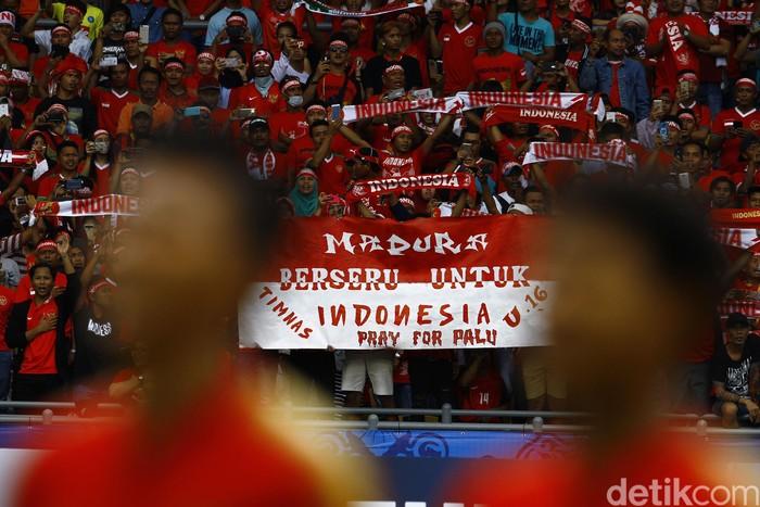 Ilustrasi pertandingan sepakbola Indonesia Vs Malaysia. Foto: Dikhy Sasra