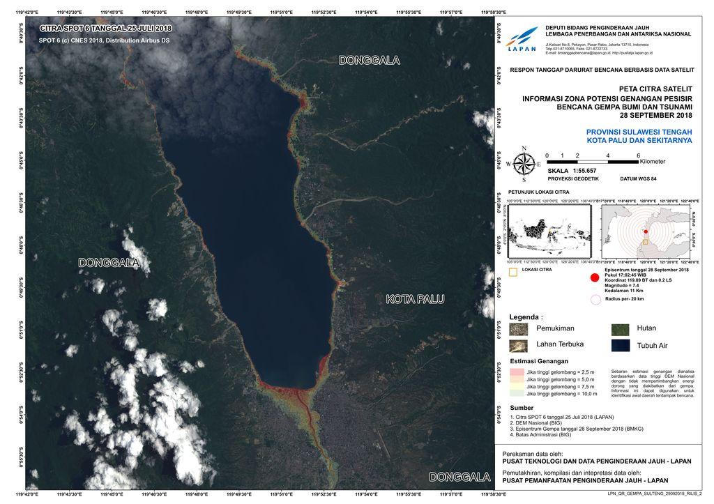 Foto citra satelit ini diambil LAPAN pada 28 September lalu. Foto: LAPAN