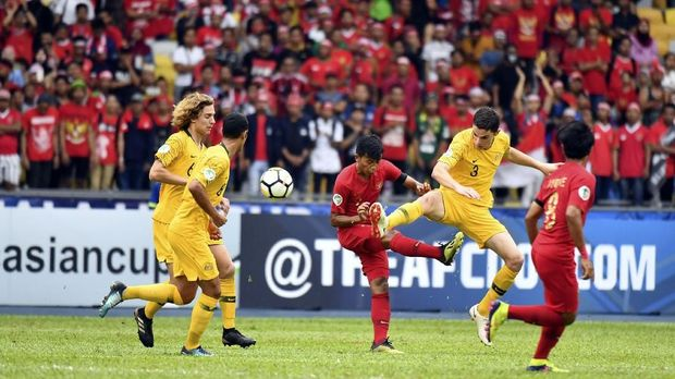 Timnas Indonesia U-16 kebobolan tiga gol dari Australia di babak kedua.