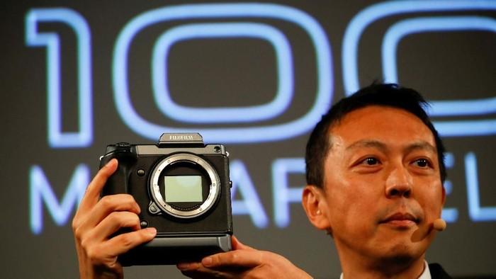 Peluncuran kamera anyar Fujifilm di Photokina 2018. Foto: Reuters/Wolfgang Rattay