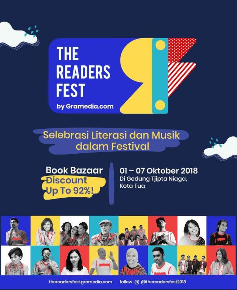 The Readers Fest 2018 Hadirkan Sapardi Djoko Damono hingga Benzbara Foto: The Readers Fest
