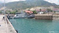 Kondisi Pangkalan Angkatan Laut Palu Rusak Parah Usai Tsunami