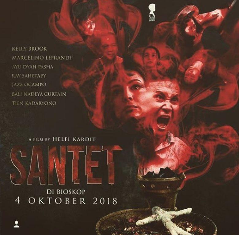 Belum lama ini, Kelly Brook membagikan poster film horor Indonesia di jejaring instagramnya.Dok. Instagram/iamkb