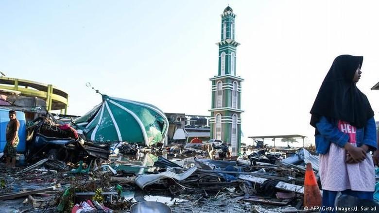 Ilustrasi gempa Palu (AFP)