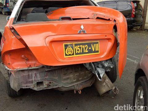 Begini Kerusakan Land Cruiser Marco Simic yang Tabrak Mobil Polisi