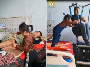 Kisah Haru Bocah 6 Tahun Rawat Ayahnya yang Difabel Ini Bikin Nangis