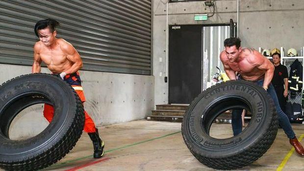 Petugas pemadam kebakaran Australia dan Taiwan