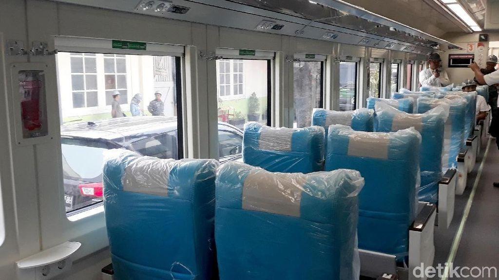 Mengintip Kereta LRT Palembang Uji Kelayakan di Madiun