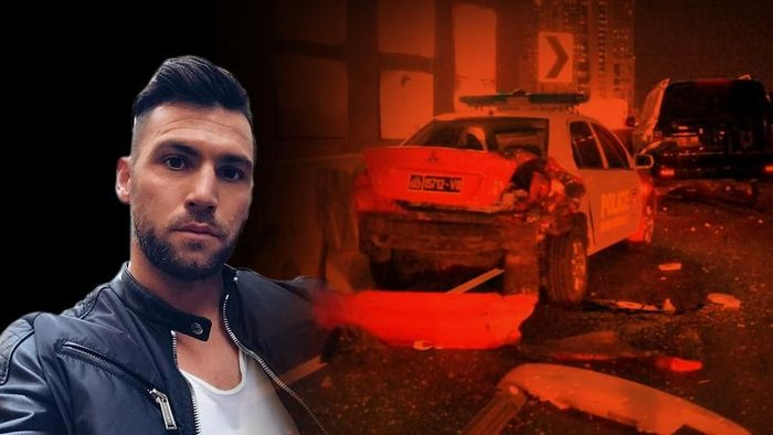 Marko Simic Tabrak Mobil Polisi