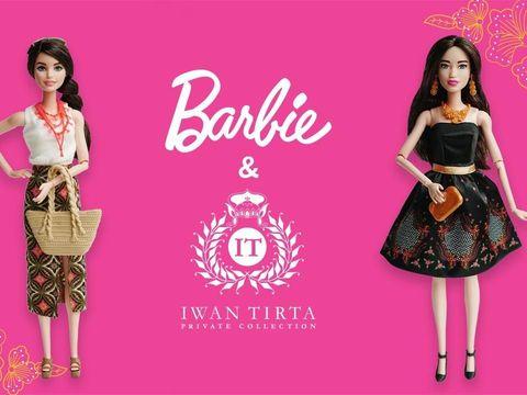 Barbie Batik hasil kolaborasi dengan Iwan Tirta Private Collection.
