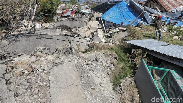 Kawasan Petobo, Palu, adalah daerah yang 'ditelan bumi' atau mengalami pergeseran tanah