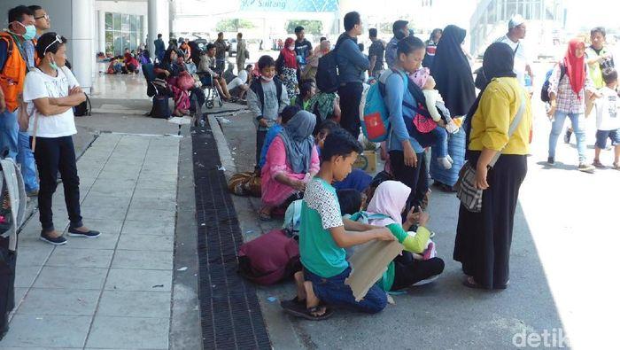 Foto: Pengungsi Palu (Foto: Trio Hamdani/detikFinance)
