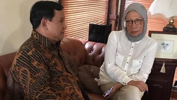 Foto: Prabowo Subianto bertemu Ratna Sarumpaet. (Dok Twitter Fadli Zon).