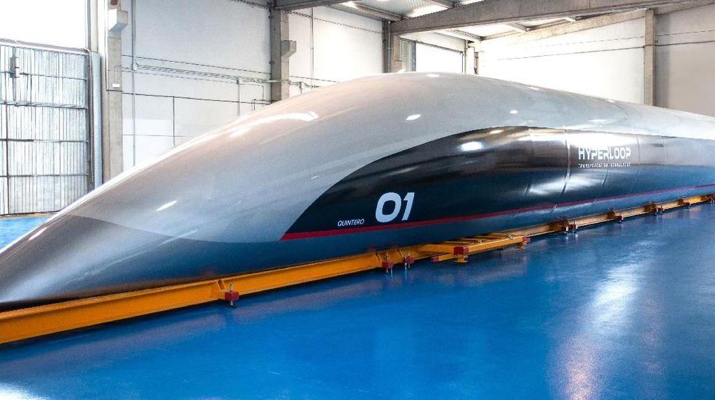 Potret Kapsul Hyperloop yang Mungkin Masuk Indonesia