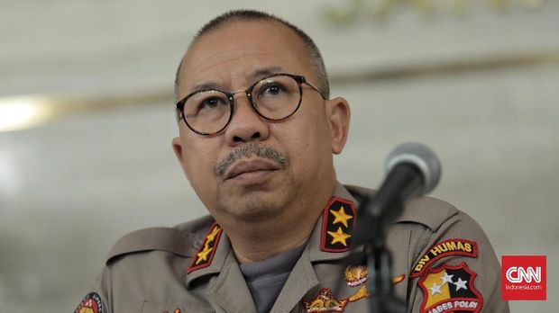 Eks Kadiv Humas Polri Irjen Setyo Wasisto, di Polda Metro Jaya, Jakarta (3/10).