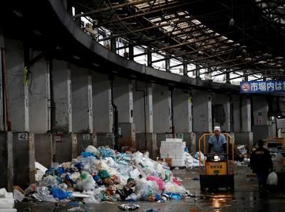 Pasar Tsukiji Mulai Dihancurkan