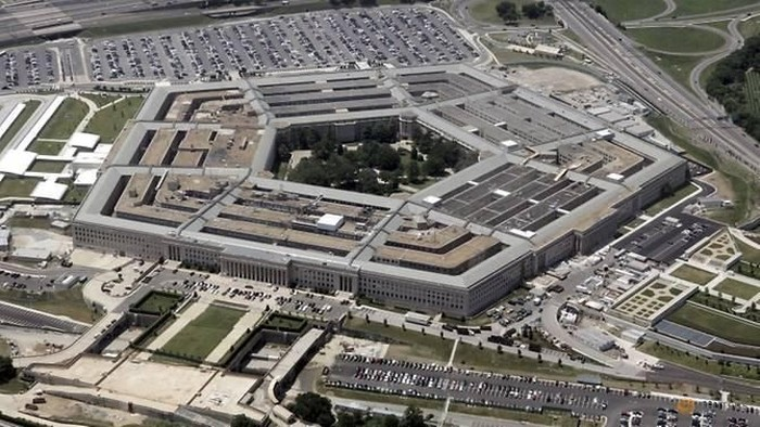 An aerial view of the Pentagon building in Washington, DC. (REUTERS/Jason Reed)