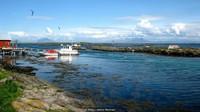 Lokasi peternakan penghasil bulu ini ada di selatan Lingkaran Arktik. Setiap bulan April, orang-orang Norwegia menuju rumah musim semi dan musim panas mereka di Lanan, Kepulauan Vega (Meg Lukens Noonan/BBC Travel)