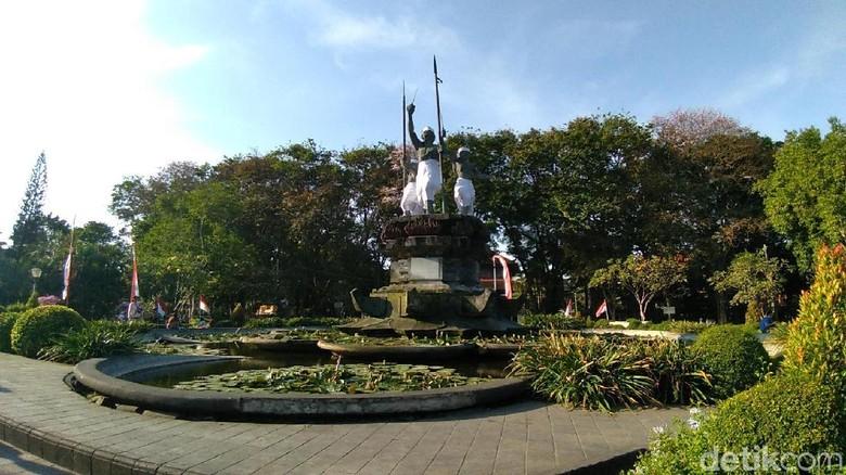 Ilustrasi, Lapangan Puputan Bali (Aditya Mardiastuti/detikTravel)