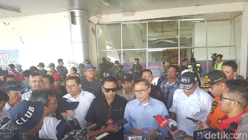 Pimpinan Parlemen Kompak Kunjungi dan Bantu Korban di Gempa Sulteng