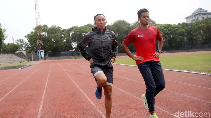 Abdul Halim Dalimunthe (kiri) (Agung Pambudhy/detikSport)